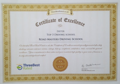 2nd place certificate best driving schools