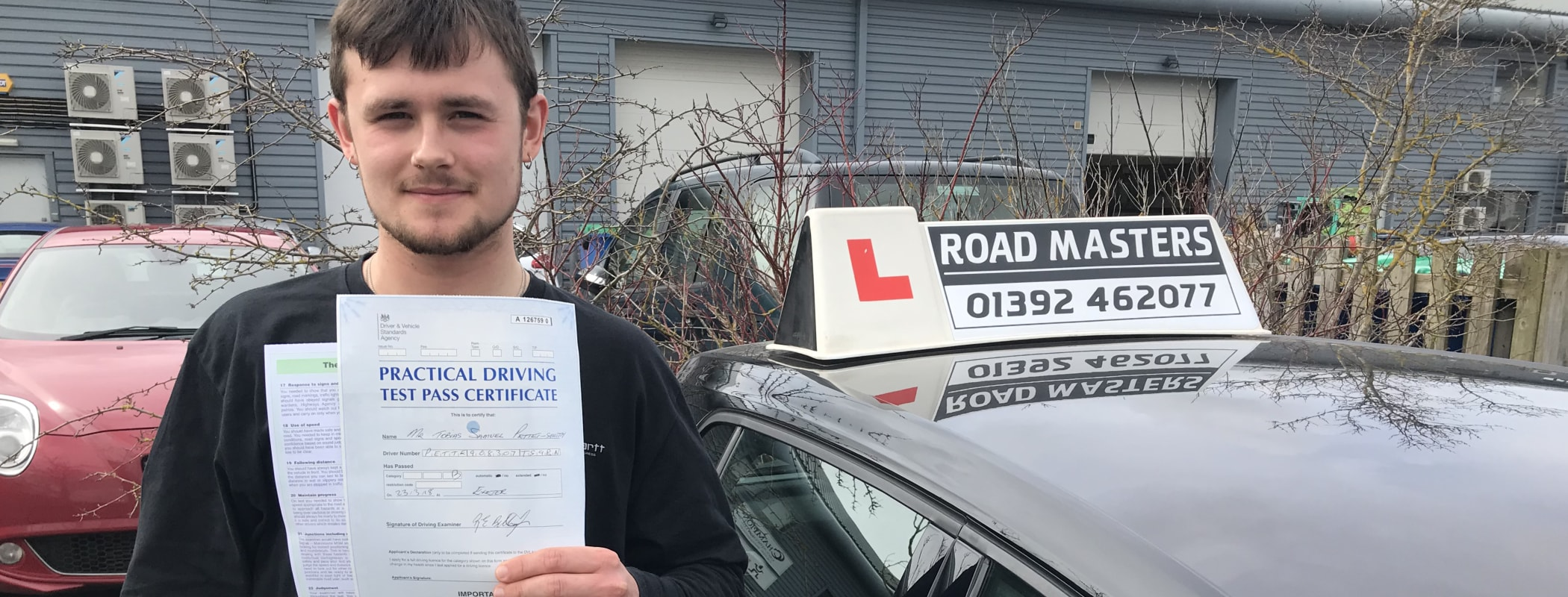 Driving lessons Exeter from less than £30/hr*