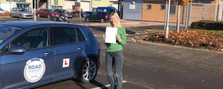 Erika pass driving test first time