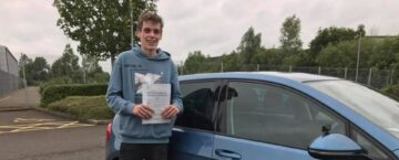 Bradley passed driving test
