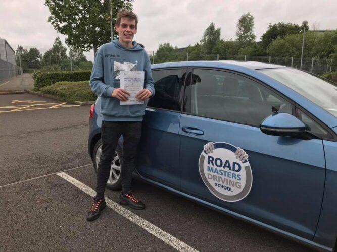 Bradley passed driving test
