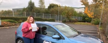 Steph passed first time