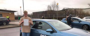 Clay passed driving test